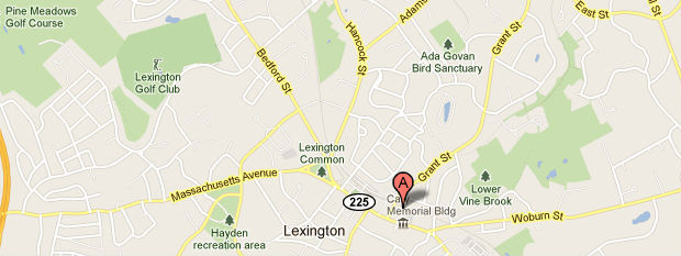 Lexington MA Real Estate Map